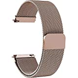 7 Colors for Quick Release Watch Strap, Fullmosa Milanese Magnetic Closure Stainless Steel Watch Band Replacement Strap for 22mm Rose Gold