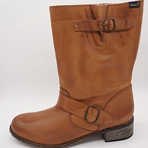 Jonny's - Botas de Piel Lisa para mujer marrón marrón