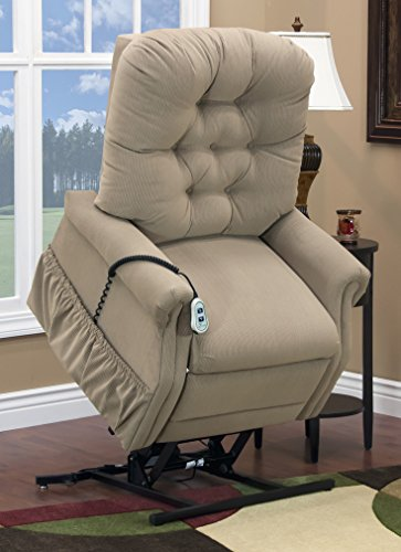 Med Lift 1555P Small Scale Lift Chair (Light Brown)