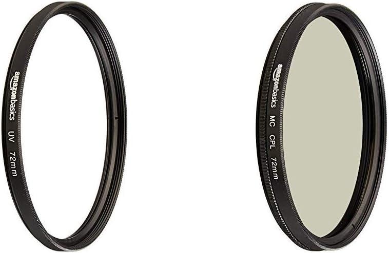 AmazonBasics UV Protection Lens Filter and Circular Polarizer Lens Set - 72 mm