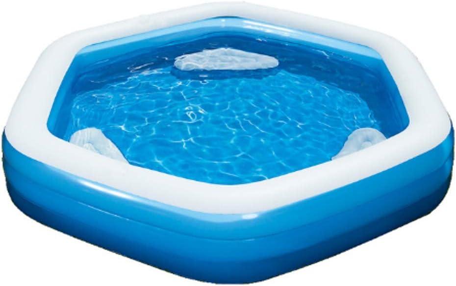 H2O Go Bestway hexagonal familia piscina