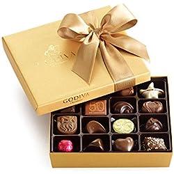 Godiva Chocolatier Classic Gold Ballotin, Chocolate Gift Box 19 Count, 7.2 Ounces