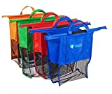 Bag For Trolley - 4 Reusable Grocery Shopping Bags For Cart - 4 Different Sizes And Colors ()