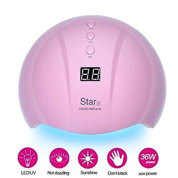 secador LED 36W Star7 lámpara uñas UV de Star6 LJUNSEG 5j34RLA