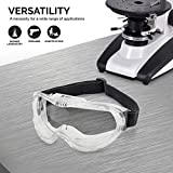 Neiko 53875B Protective Safety Goggles Eyewear with Wide-Vision, ANSI Z87.1 Approved   Adjustable & Lightweight