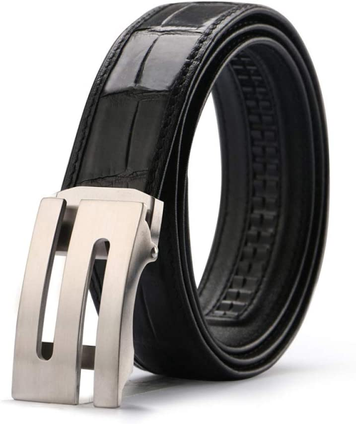 DENGDAI Non-Connected Automatic Buckle Belt Mens Casual Belt
