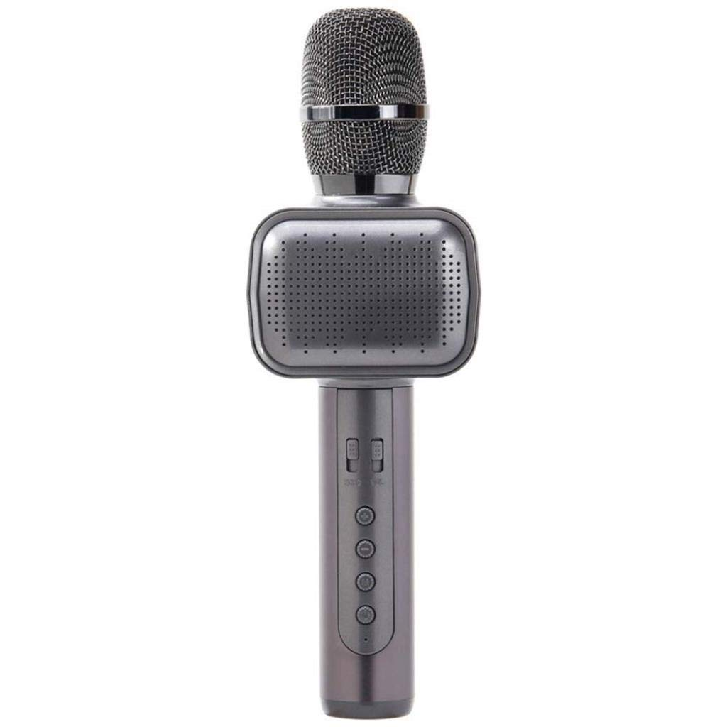 Rsiosle Wireless Bluetooth Karaoke Microphone with Disco Light Karaoke Machine Bluetooth Speaker Home KTV Music Player Handheld Mic Compatible with Android and iOS ( Color : Grey ) by Rsiosle (Image #1)