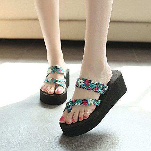Chaussons Et Blue Chaussons Slacker amp;QIUMEI D'Été Chaussures Femme OME Cool wq76faFx