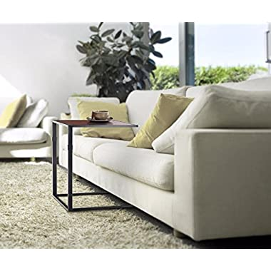 Zinus Modern Studio Collection Side Sofa Snack Table