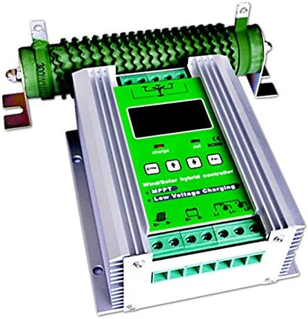 ZJN-JN 1200W MPPT Wind Turbine Solarladeregler 600W Windturbine 600W Solar-Laderegler 12V / 24V Auto-Boost-Hybrid-Controller mit freier Dump-Last Solarzubehör Outdoor Power Tools