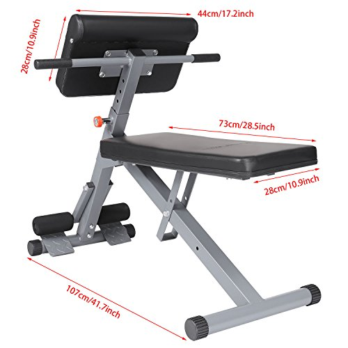 Ancheer hyper bench roman chair hyperextension back