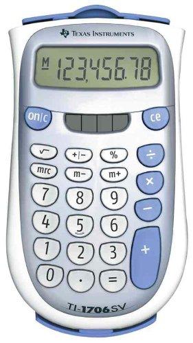 TI-1706SV Handheld Pocket Calculator, 8-Digit LCD