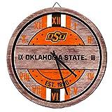 FOCO Oklahoma State Cowboys NCAA Barrel Wall Clock