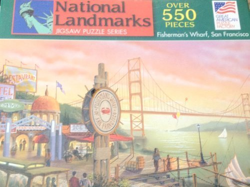 Great American Puzzle Factory 550 Piece Puzzle of Fisheruomo's Wharf in San Francisco by