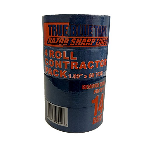 True Blue Premium Blue Professional Painter's Masking Tape – Indoor and Outdoor Use – Commercial Grade - Available in 2 Widths – Works on a Variety of Surfaces (2 Inch, 4-Pack) by True Blue (Image #3)