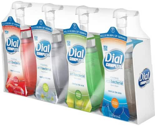 Dial Complete Foaming Anti-bacterial Hand Wash Variety 4-Pack - 7.5 Oz Each