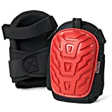 SAVE YOUR KNEES – Gel Elite Knee Pads For Work & Gardening by Gamba Tools – Best Heavy Duty Professional Knee Pad For Construction, Concrete, Flooring, Cleaning & Knee Replacements (Adult, Red)