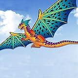 AMLJM Big Stereo Dragon Kite Creative Children Dinosaur Kites Tail Easy To Fly Big Outdoor Sports Kite Kids Gift Adult