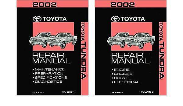 amazon com 2002 toyota tundra shop service repair manual book rh amazon com 2002 toyota tundra service manual download Toyota Tundra Radio Fuse