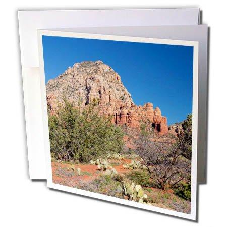 3dRose Danita Delimont - Deserts - Arizona, Sedona, Red Rock Country, Thunder Mountain - 6 Greeting Cards with envelopes (gc_258713_1)