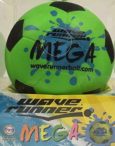 Wave Runner Mega Sport,Soccer Ball Green (#1 Water Skipping Ball)