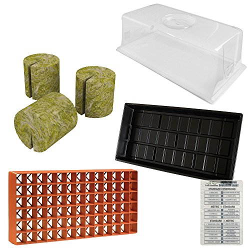 "4 Pack Bundle: Vented Humidity Dome, 7.5"", Cut Kit Tray 1..."
