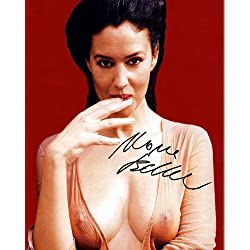 Monica Bellucci Nipples Autographed Preprint Signed 11x14 Poster Photo