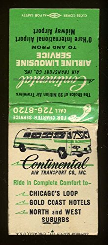 Continental Air Transport Airline Limousine Service O'Hare Chicago IL - Ohare Il Chicago