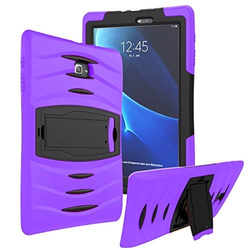 Galaxy Tab A 8.0 Case KIQ ™ Full-body Shock Proof Hybrid Heavy Duty Armor Protective Case for Samsung Galaxy Tab A 8.0 [SM-T350] with Kickstand and Screen Protector (Armor Purple) by KIQ