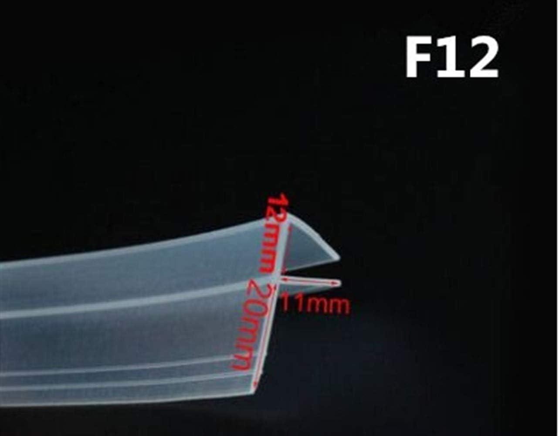 AUARTMETION1 개 2 메터 | 몫 확대 F | H 모양 실리콘 고무 샤워 룸 문 창 유리 씰 스트립 웨더 6 | 8 | 10 | 12 미리메터 유리(색상:F12MM X2 미터)