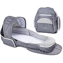 Baby Delight BD3700 Snuggle Nest Traveler Bed XL, Geo Hex-Gray/White
