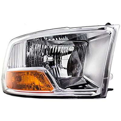 Passengers Headlight Headlamp Replacement for Dodge Pickup Truck 55277410AF