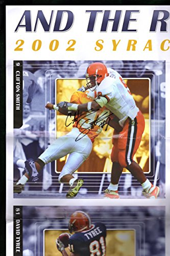 - Vintage 2002 Large (35x24) Poster, Syracuse University Football, Signed by 2 of 6 (Troy Nunes and Clifton Smith); David Tyree, Will Hunter, Chris Davis, Mike Shafer ()