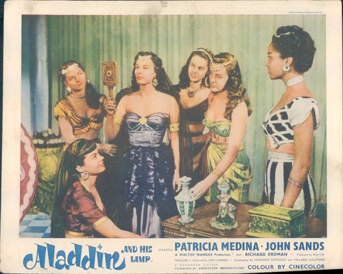Lamp Medina - ALADDIN AND HIS LAMP 1952 LOBBY CARD PATRICIA MEDINA AND BEAUTIFUL GIRLS