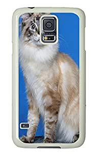 Samsung S5 protective cover Cat Id17 PC White Custom Samsung Galaxy S5 Case Cover