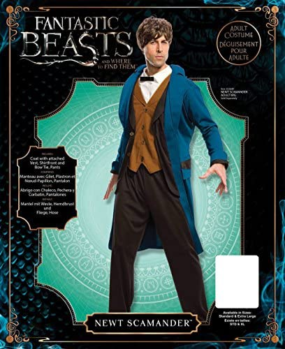 Mens Newt Scamander Fancy dress costume Standard
