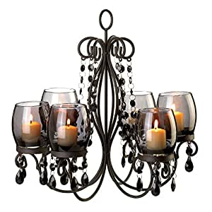 Amazon verdugo gift midnight elegance candle chandelier home candle chandeliers mozeypictures Gallery