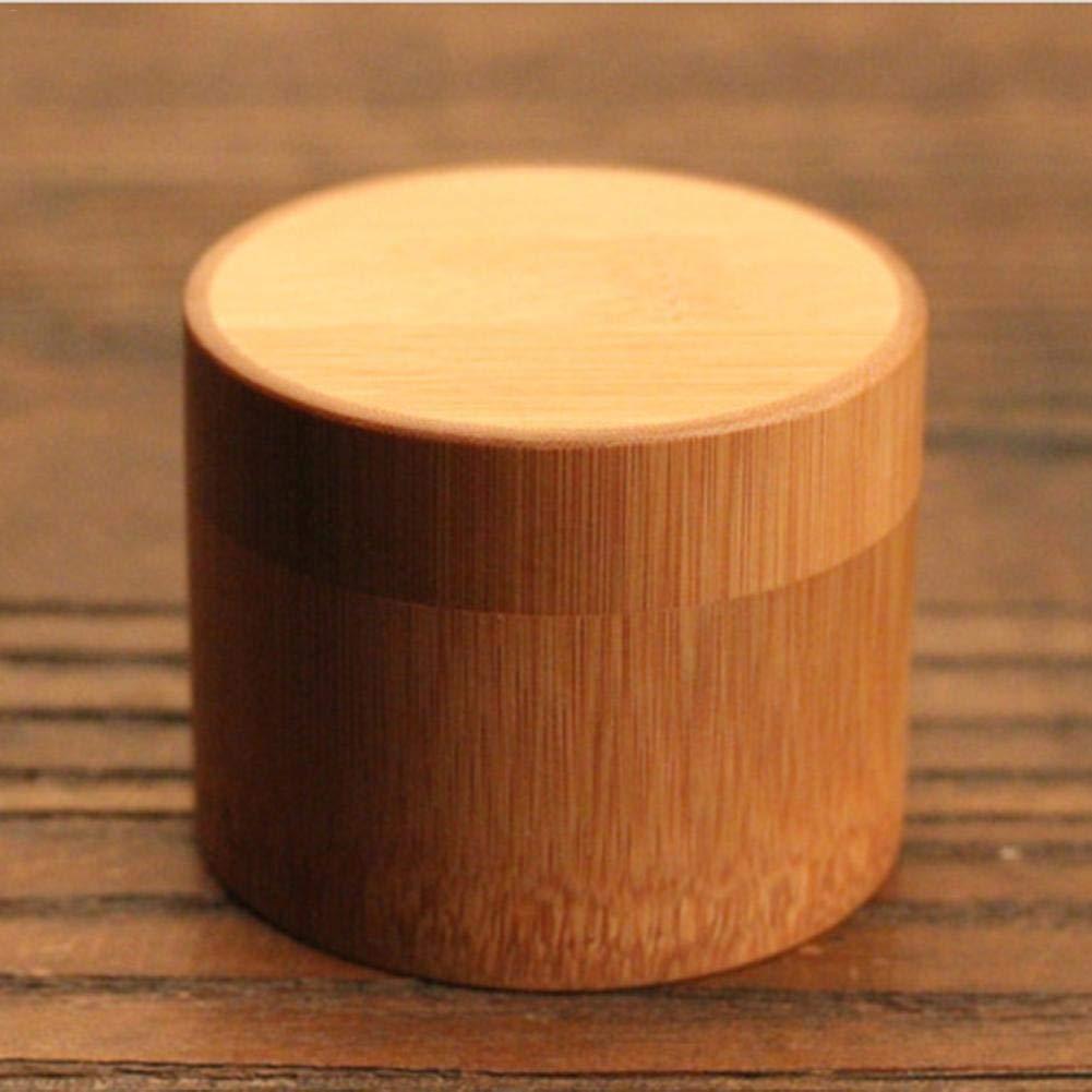 /Tarro para t/é Madera con Tapas, recipientes para Cocina para almacenaje del az/úcar en el caf/é au t/é, Compartimentos de esta/ño para t/é en Hojas, 5.5 * 6cm Waroomss/ para t/é