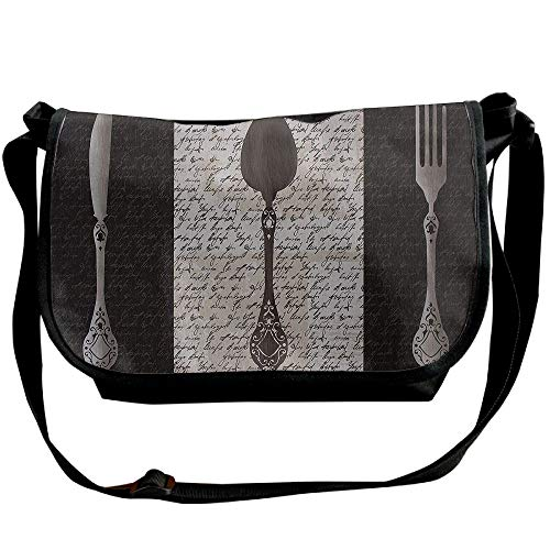 Handbags Gear Chef Mens Casual Fashion Sling Bag Bags Black Designer Crossbody French Utensils qaE5xfwRqP