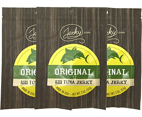 Original All Natural Ahi Tuna Jerky - 3 PACK - The Best Tuna Jerky on the Market - 100% Whole Muscle Ahi Tuna Fillets - No Added Preservatives, No Added Nitrates and No Added MSG - 6 total oz.