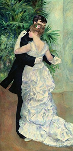 Oil Painting 'Pierre-Auguste Renoir-Dance In The City,1883' Printing On Perfect Effect Canvas , 18x37 Inch / 46x95 Cm ,the Best Powder Room Decoration And Home Decor And Gifts Is This - Native Impression Art American