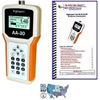 Bundle - 3 Items - RigExpert AA-30 (0.1 to 30 MHz) Antenna Analyzer with Nifty! Accessories Mini-Manual and Ham Guides TM Quick Reference Card