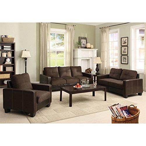 Furniture of America Coxx 3 Piece Sofa Set in Gray