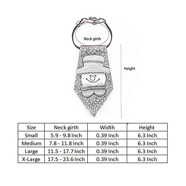 ANIAC Pet Christmas Santa Collar Neckwear Pattern Neck Grooming Accessories Small to Big Dogs (Snowman, Small) 4