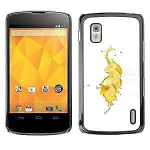 LECELL -- Funda protectora / Cubierta / Piel For LG Google Nexus 4 E960 -- Fresh Lemon Splash --