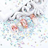 MEILINDS 3D Glitter Sequins Nail Art Tips Charms