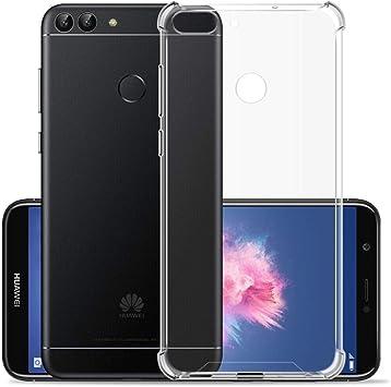 Hually Funda Huawei P Smart, Transparente Silicona Fundas para ...