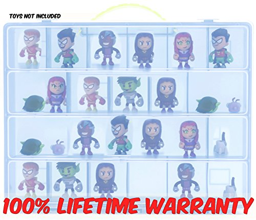 Teen Titans Carrying Case - Stores Dozens of Figures - Durable Toy Storage Organizer by Life Made (Original X Men Costumes)