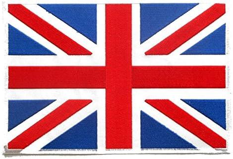 【ノーブランド品】アイロンワッペン BIGワッペン イギリス国旗 ワッペン 刺繡ワッペン アイロンで貼れるワッペン