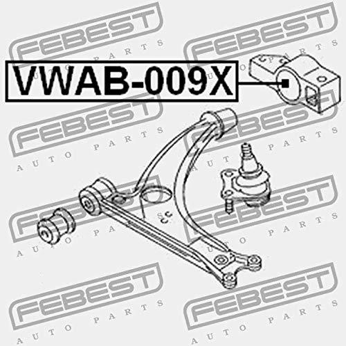 VWAB-009X Febest SILENT BLOCK POSTERIOR DE LA PALANCA ANTERIOR SIN EL SOPORTE